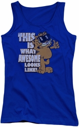 Garfield juniors tank top Awesome royal