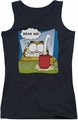 Garfield juniors tank top Bean Me black