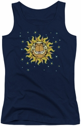 Garfield juniors tank top Celestial navy