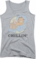 Garfield juniors tank top Chillin athletic heather