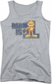 Garfield juniors tank top Dad Is Number One athletic heather
