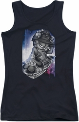 Garfield juniors tank top Dj Lazy black