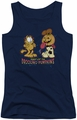 Garfield juniors tank top Drooling Pumpkins navy