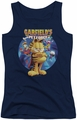 Garfield juniors tank top Dvd Art navy