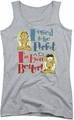 Garfield juniors tank top Even Better athletic heather