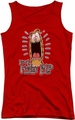 Garfield juniors tank top Friday red