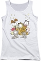 Garfield juniors tank top Friends Are Best white