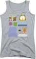 Garfield juniors tank top Gift Set athletic heather