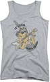 Garfield juniors tank top I'm With The Band athletic heather