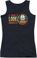 Garfield juniors tank top I Only Look Harmless black