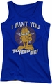 Garfield juniors tank top I Want You royal