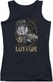 Garfield juniors tank top Lazy 4 Life black