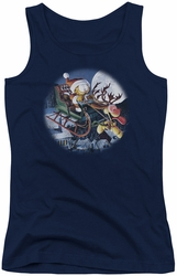 Garfield juniors tank top Moonlight Ride navy