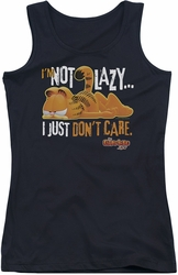 Garfield juniors tank top Not Lazy black