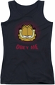 Garfield juniors tank top Obey Me black