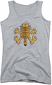 Garfield juniors tank top Ow athletic heather