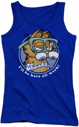 Garfield juniors tank top Performing royal