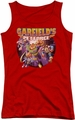 Garfield juniors tank top Pet Force Four red
