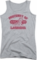 Garfield juniors tank top Property Of Lasagna athletic heather