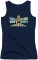 Garfield juniors tank top Rise Not Shine navy