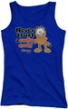 Garfield juniors tank top Smiling royal