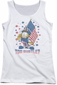 Garfield juniors tank top Subtle white