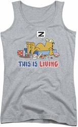 Garfield juniors tank top This Is Living athletic heather
