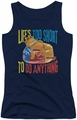 Garfield juniors tank top Too Short navy