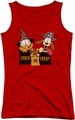 Garfield juniors tank top Trick Or Treat red