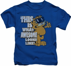 Garfield kids t-shirt Awesome royal