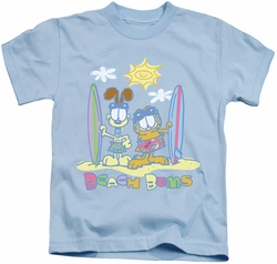 Garfield kids t-shirt Beach Bums light blue