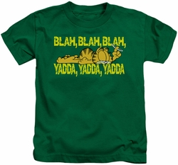 Garfield kids t-shirt Blah Blah Blah kelly green