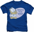Garfield kids t-shirt Deserve To Be Spoiled royal