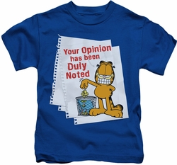 Garfield kids t-shirt Duly Noted royal