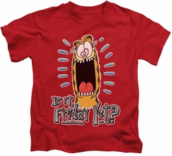 Garfield kids t-shirt Friday red