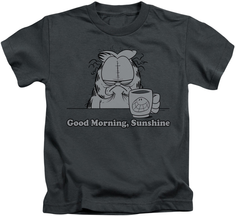 Good Morning Sunshine Shirt : Garfield kids t shirt good morning sunshine charcoal