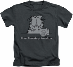 Garfield kids t-shirt Good Morning Sunshine charcoal