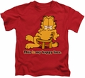 Garfield kids t-shirt Happy Face red