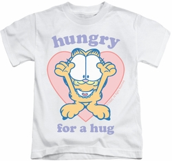 Garfield kids t-shirt Hungry For A Hug white