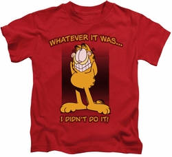 Garfield kids t-shirt I Didn't Do It red