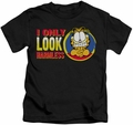 Garfield kids t-shirt I Only Look Harmless black
