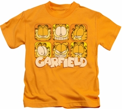 Garfield kids t-shirt Many Faces gold