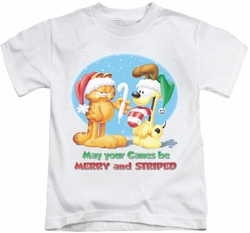 Garfield kids t-shirt Merry And Striped white