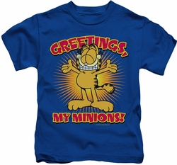 Garfield kids t-shirt Minions royal blue