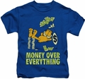 Garfield kids t-shirt Money Is Everything royal