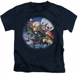 Garfield kids t-shirt Moonlight Ride navy