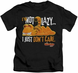 Garfield kids t-shirt Not Lazy black