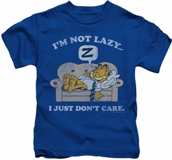 Garfield kids t-shirt Not Lazy royal