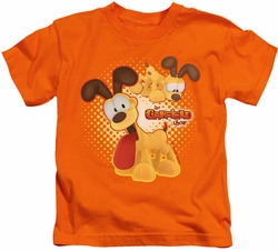 Garfield kids t-shirt Odie orange