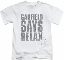 Garfield kids t-shirt Relax white